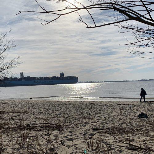 Kollmar Strand Schiff
