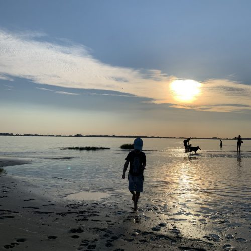 Kollmar Strand Sonnenuntergang